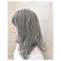 ストリート ミディアム ハイライト 外国人風 ヘアスタイルや髪型の写真・画像