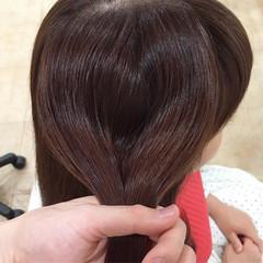 髪質改善トリートメント トリートメント イルミナカラー セミロング ヘアスタイルや髪型の写真・画像