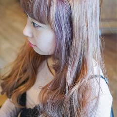 ピンク インナーカラー ストリート ハイライト ヘアスタイルや髪型の写真・画像