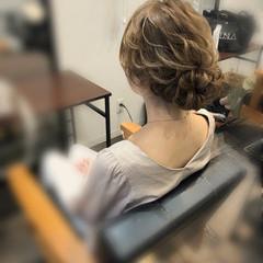 アップ ねじり ロング ヘアセット ヘアスタイルや髪型の写真・画像