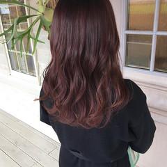 ロング ピンクブラウン ロングヘア ピンクベージュ ヘアスタイルや髪型の写真・画像