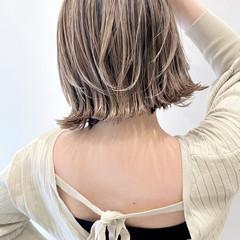 バレイヤージュ ハイライト ミニボブ ボブ ヘアスタイルや髪型の写真・画像