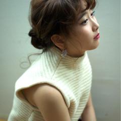 シニヨン ヘアアレンジ 外国人風 ルーズ ヘアスタイルや髪型の写真・画像