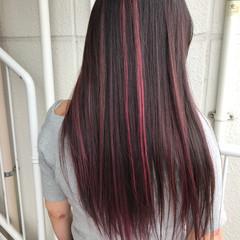 ロング ピンク 外国人風 ガーリー ヘアスタイルや髪型の写真・画像