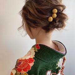ボブ ボブアレンジ 簡単ヘアアレンジ フェミニン ヘアスタイルや髪型の写真・画像