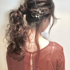 冬 ヘアアレンジ 大人女子 外国人風 ヘアスタイルや髪型の写真・画像