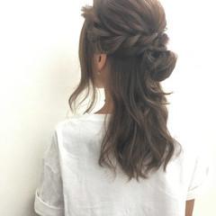 ローライト ロング アッシュ ブラウン ヘアスタイルや髪型の写真・画像