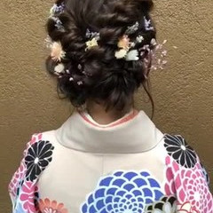 パーティ ヘアアレンジ ミディアム フェミニン ヘアスタイルや髪型の写真・画像