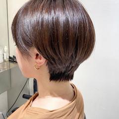 耳掛けショート 似合わせカット 前髪あり ショートボブ ヘアスタイルや髪型の写真・画像