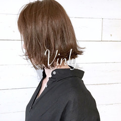 ナチュラル ボブ デート 前髪あり ヘアスタイルや髪型の写真・画像