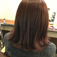 ロブ ストリート ラベンダーアッシュ ラベンダーピンク ヘアスタイルや髪型の写真・画像