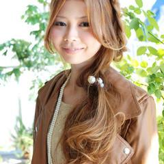 ストリート 夏 ヘアアレンジ 編み込み ヘアスタイルや髪型の写真・画像