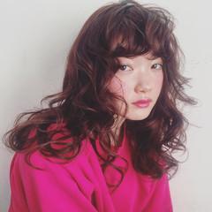 パーマ ガーリー ゆるふわパーマ 前髪パーマ ヘアスタイルや髪型の写真・画像
