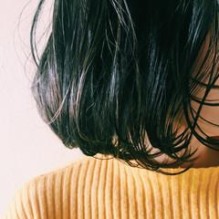 黒髪 パーマ 色気 ボブ ヘアスタイルや髪型の写真・画像