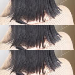 黒髪 スポーツ オフィス ボブ ヘアスタイルや髪型の写真・画像