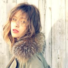 簡単ヘアアレンジ ストリート 外国人風 ミディアム ヘアスタイルや髪型の写真・画像