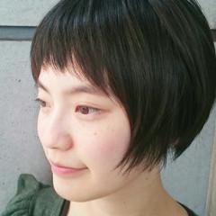 前髪あり ショート 外国人風 ナチュラル ヘアスタイルや髪型の写真・画像