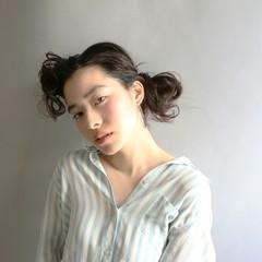 かき上げ前髪 ゆるふわ ヘアアレンジ 大人かわいい ヘアスタイルや髪型の写真・画像