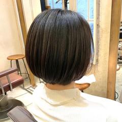 パーマ ショートボブ  ミニボブ ヘアスタイルや髪型の写真・画像