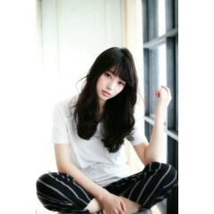 黒髪 大人かわいい ロング ストリート ヘアスタイルや髪型の写真・画像