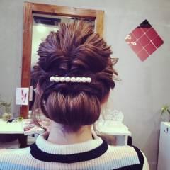 ヘアアレンジ ナチュラル ヘアアクセ 大人かわいい ヘアスタイルや髪型の写真・画像