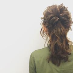 ヘアアレンジ ロング 大人かわいい デート ヘアスタイルや髪型の写真・画像
