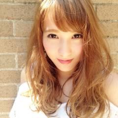 ロング 外国人風 春 ガーリー ヘアスタイルや髪型の写真・画像