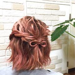 ゆるふわ ヘアアレンジ フェミニン 簡単ヘアアレンジ ヘアスタイルや髪型の写真・画像