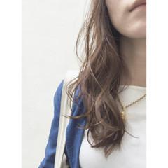 外国人風 暗髪 ロング アッシュ ヘアスタイルや髪型の写真・画像