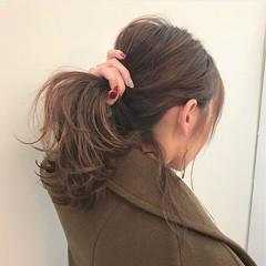 アンニュイ デート 簡単ヘアアレンジ ヘアアレンジ ヘアスタイルや髪型の写真・画像