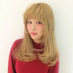 姫カット ゆるふわ ロング フェミニン ヘアスタイルや髪型の写真・画像