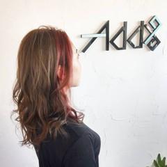 セミロング 韓国ヘア ガーリー ウルフカット ヘアスタイルや髪型の写真・画像