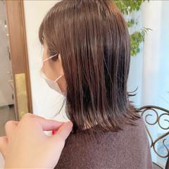 ミディアム 大人可愛い モテボブ ボブヘアー ヘアスタイルや髪型の写真・画像