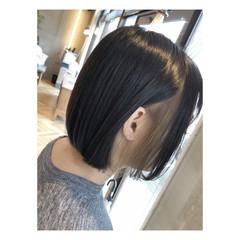 ミルクティーベージュ ナチュラル ボブ インナーカラー ヘアスタイルや髪型の写真・画像