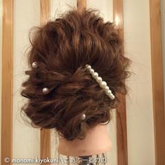 ロング ヘアアレンジ アップスタイル 大人かわいい ヘアスタイルや髪型の写真・画像