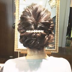 ショート 暗髪 フェミニン セミロング ヘアスタイルや髪型の写真・画像