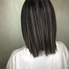 外国人風 3Dハイライト 大人ハイライト ナチュラル ヘアスタイルや髪型の写真・画像
