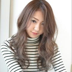 前髪あり 外国人風 ハイライト ロング ヘアスタイルや髪型の写真・画像