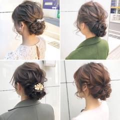 ナチュラル アンニュイほつれヘア デート 結婚式 ヘアスタイルや髪型の写真・画像