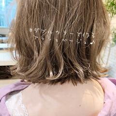 ボブ 切りっぱなしボブ ショートヘア インナーカラー ヘアスタイルや髪型の写真・画像