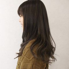 グラデーションカラー アッシュ ハイライト 外国人風 ヘアスタイルや髪型の写真・画像