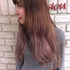 春 ストリート ガーリー ピンク ヘアスタイルや髪型の写真・画像
