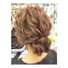 冬 結婚式 デート ミディアム ヘアスタイルや髪型の写真・画像