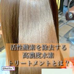 ロング 髪質改善トリートメント トキオトリートメント ナチュラル ヘアスタイルや髪型の写真・画像