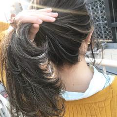 ロング ウェーブ 透明感 ヘアアレンジ ヘアスタイルや髪型の写真・画像