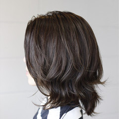 フェミニン ミディアム 艶髪 透明感 ヘアスタイルや髪型の写真・画像