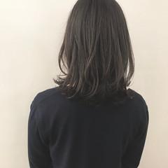 ボブ 切りっぱなし ゆるふわ ミディアム ヘアスタイルや髪型の写真・画像