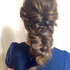 編み込み 簡単 簡単ヘアアレンジ ヘアアレンジ ヘアスタイルや髪型の写真・画像
