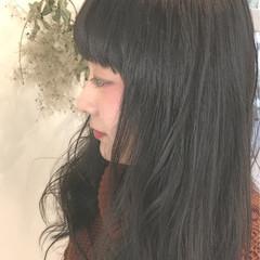 黒髪 モード 暗髪 こなれ感 ヘアスタイルや髪型の写真・画像