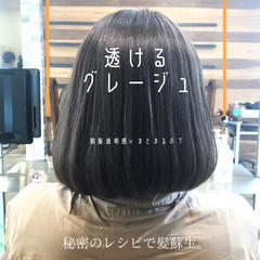 ストレート 髪質改善 ナチュラル グレージュ ヘアスタイルや髪型の写真・画像